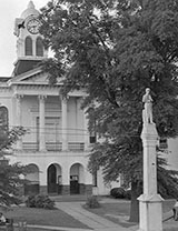 Courthouse and monument