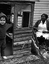 Nanny with white children