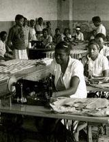 Female prisoners sewing