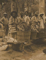 Prisoners washing clothes