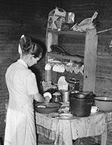 Laurel Sharecropper's Wife in Her Kitchen