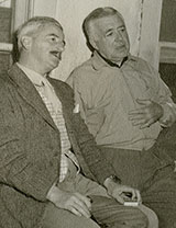 William Faulkner and Clarence Brown