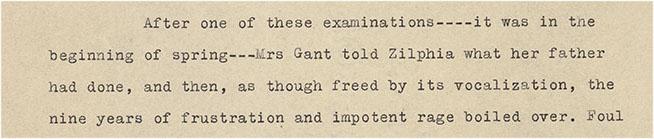 Detail: page 6, Miss Zilphia Gant Ts