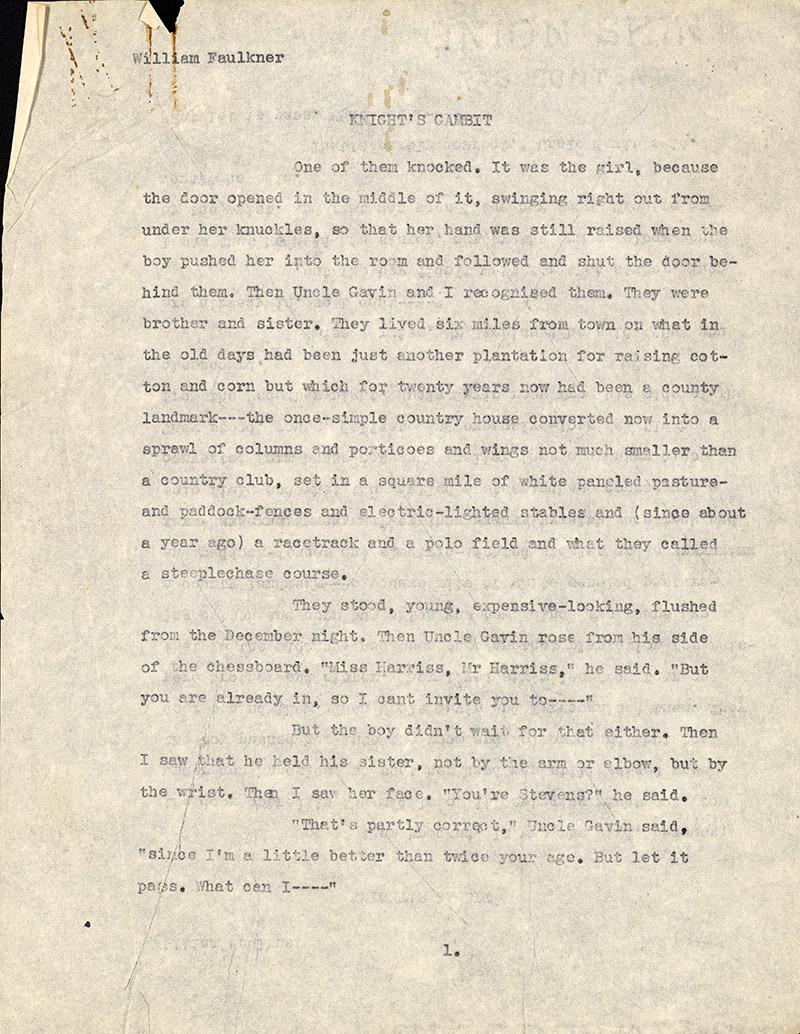 Page 1, Knight's Gambit Ts